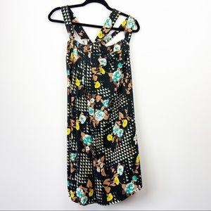 MAYLE Anthro Black Geometric Patterned Dress 2